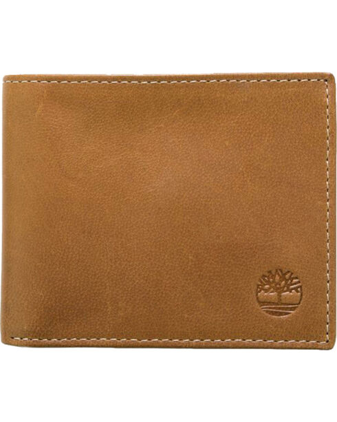 Timberland Men's Cloudy Passcase Wallet , Tan, hi-res