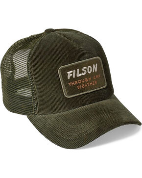 Filson Men's Alcan Cord Mesh Cap, Moss Green, hi-res