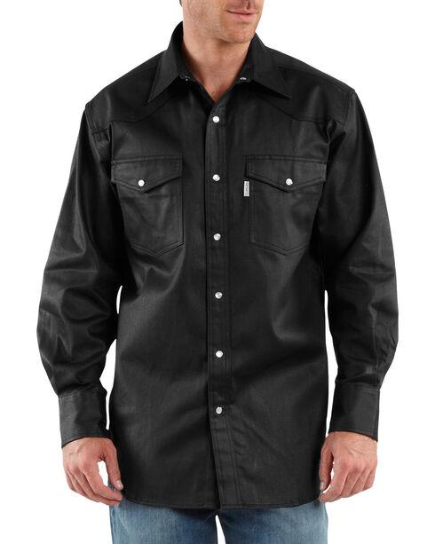 Carhartt Ironwood Twill Work Shirt - Big & Tall, Black, hi-res