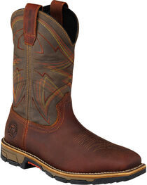 Red Wing Irish Setter Marshall Olive Green Work Boots - Soft Square Toe  , , hi-res