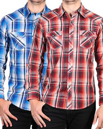 Ely 1878 Men's Accented Plaid Long Sleeve Shirt, , hi-res