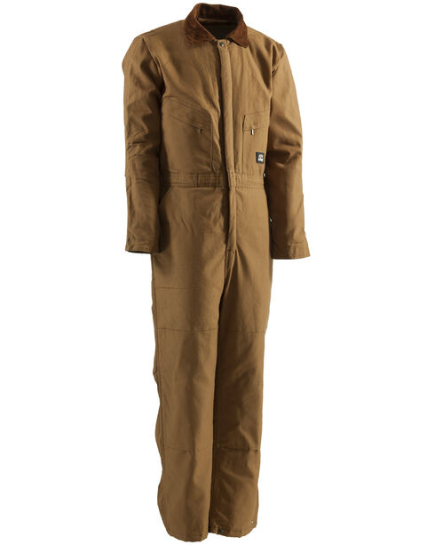 Berne Duck Deluxe Insulated Coveralls - Tall 5XT and 6XT, Brown, hi-res