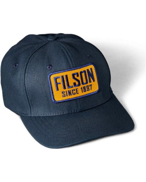 Filson Men's Embroidered Patch Logger Cap, Navy, hi-res