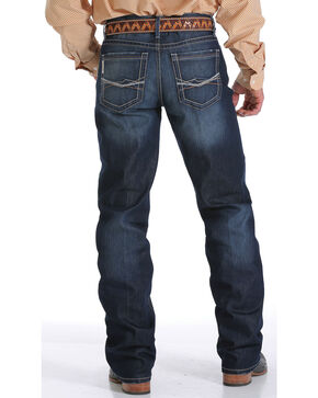 Cinch Men's Grant Performance Relaxed Boot Cut Jeans, Indigo, hi-res