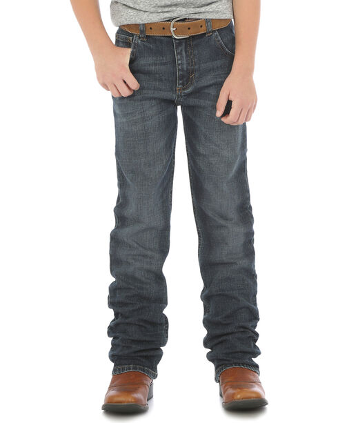 Wrangler Retro Boys' Slim Straight Jeans (8-16), Indigo, hi-res