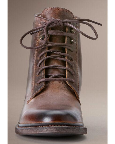 Frye Women's James Lace Up Boots - Round Toe, Cognac, hi-res