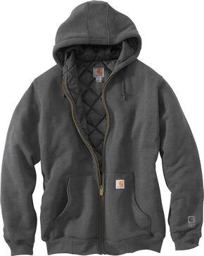 Carhartt Men's 3-Season Midweight Sweatshirt Jacket, Charcoal, hi-res