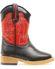 Double Barrel Toddler Boys' Trailboss Side Zipper Cowboy Boots - Square Toe, , hi-res