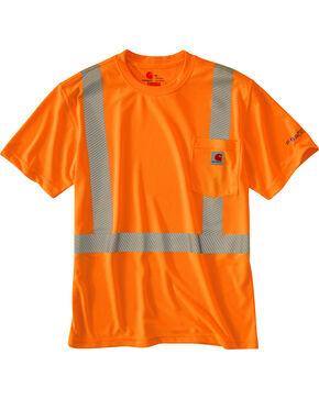 Carhartt Men's Short Sleeve Force High Visibility Class 2 T-Shirt, Orange, hi-res