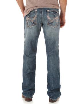 Wrangler Men's Rock 47 Slim Boot Cut Jeans, Indigo, hi-res
