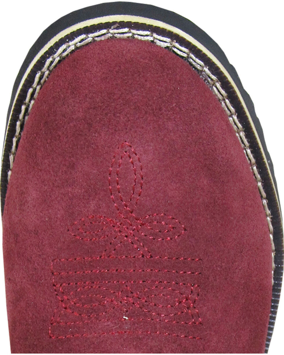 Smoky Mountain Youth Girls' Rae Western Boots - Round Toe , Burgundy, hi-res