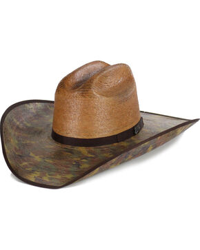 Justin Men's Bent Rail Trapper Cowboy Hat, Camouflage, hi-res