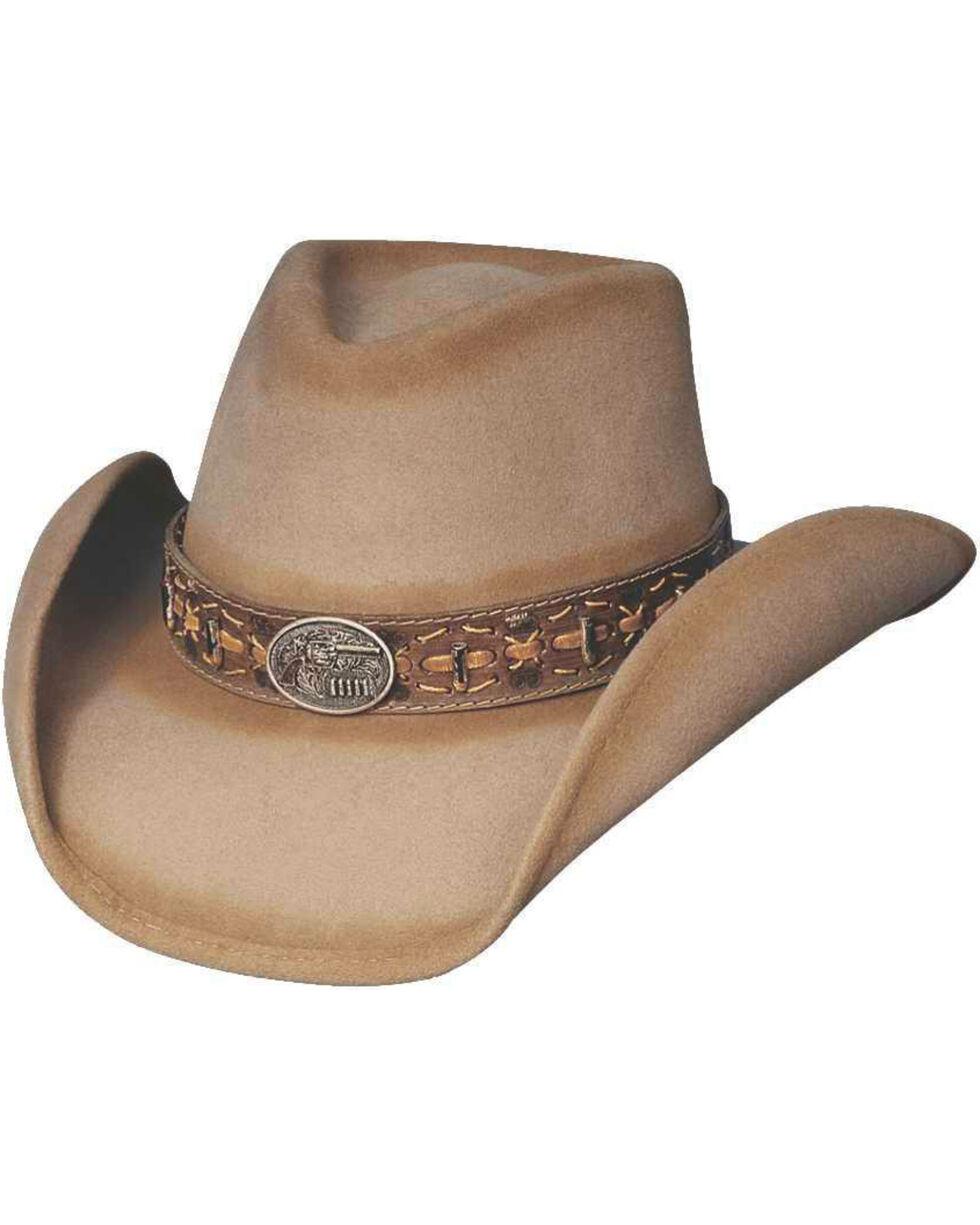 Bullhide Men's B. Kidd Wool Hat, Sand, hi-res