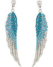 Shyanne® Women's Rhinestone Wing Earrings, , hi-res
