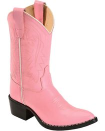 Old West Girls' Pink Cowgirl Boots, , hi-res