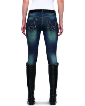 Ariat Women's Denim Breeches, Indigo, hi-res