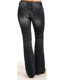 Rock & Roll Cowgirl Women's Dark Wash High Rise Trouser Jeans - Boot Cut , , hi-res