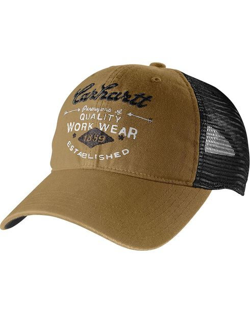 Carhartt Glendale Workwear Mesh Back Cap, Brown, hi-res