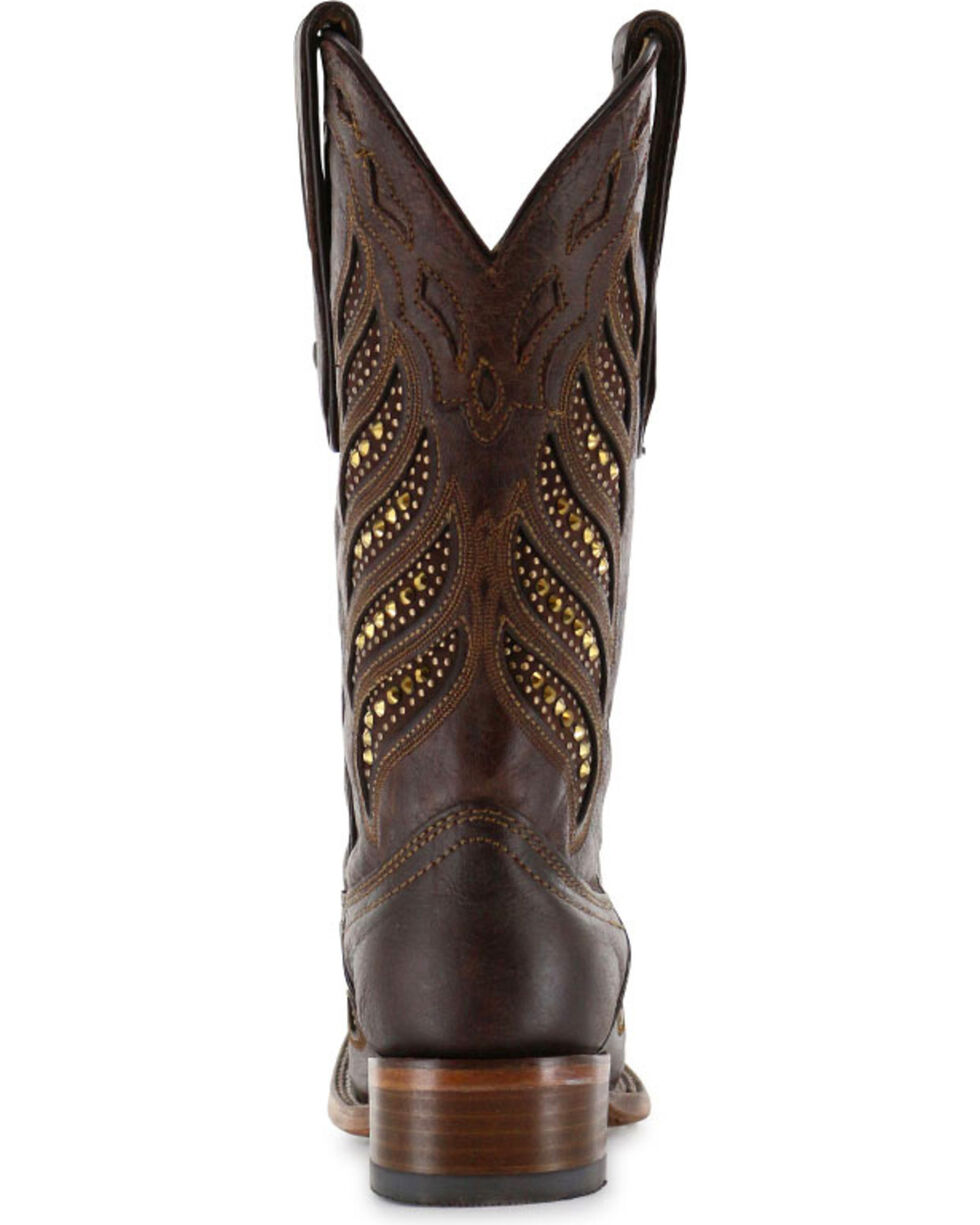 Corral Women's Crystal Inlay Square Toe Boots, , hi-res