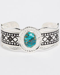 Montana Silversmiths Women's Phases of the World Cuff Bracelet, Silver, hi-res
