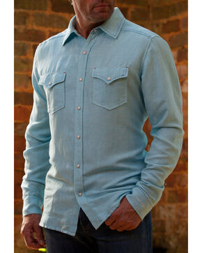 Ryan Michael Men's Blue Pool Western Shirt, Blue, hi-res