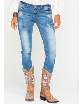 Grace in LA Women's Kaylyn Skinny Jeans, Indigo, hi-res