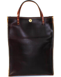 SouthLife Supply Plum Leather Magazine Tote, , hi-res