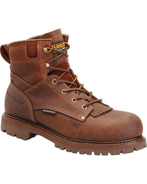 "Carolina Men's 6"" Waterproof CT Grizzly Work Boots, Brown, hi-res"
