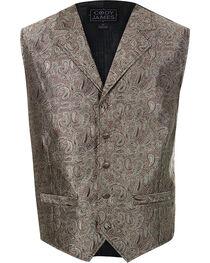 Cody James® Men's Paisley 5-Button Vest, , hi-res