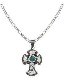 Montana Silversmiths Blue Earth Antiqued Filigree Necklace, , hi-res