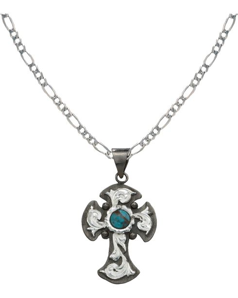 Montana Silversmiths Blue Earth Antiqued Filigree Necklace, Silver, hi-res