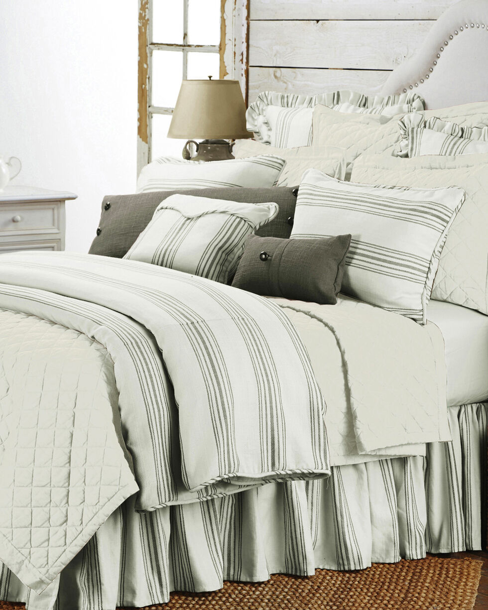 HiEnd Accents 3-Piece Prescott Stripe Taupe King Set , Taupe, hi-res