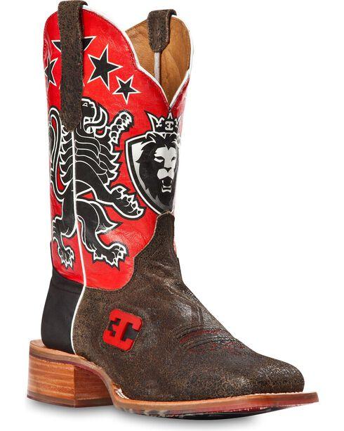 Cinch Men's Leon Western Boots, Black, hi-res