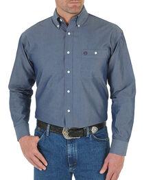 Wrangler Men's Blue George Strait Button Down Shirt , , hi-res