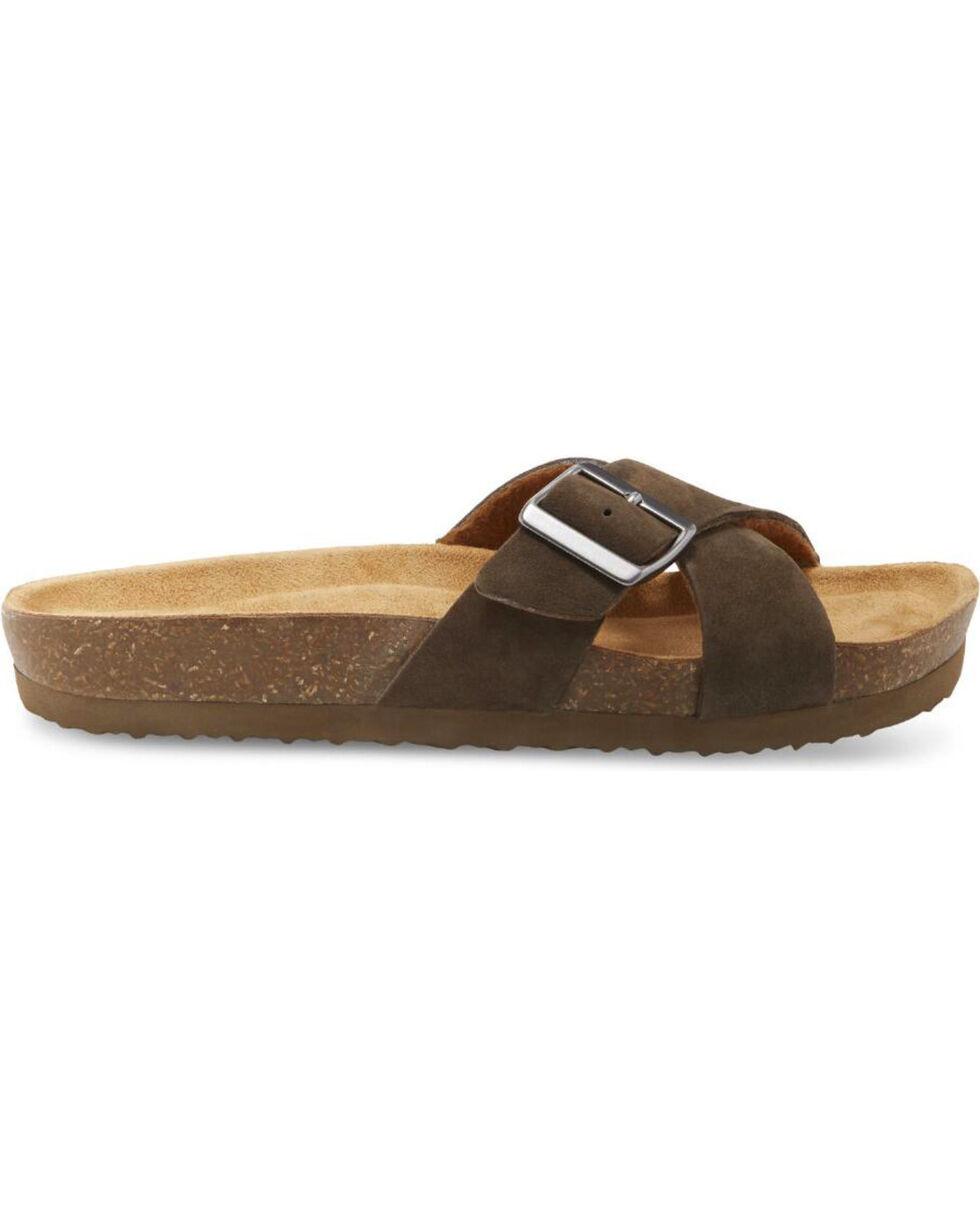 Eastland Women's Earth Kelley Slide Sandals , Olive, hi-res