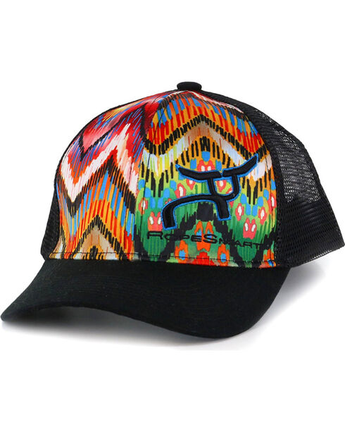 RopeSmart Women's Pattern Snap-Back Trucker Hat, Multi, hi-res