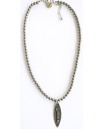West & Co. Women's Burnished Silver Arrow Charm Necklace, , hi-res