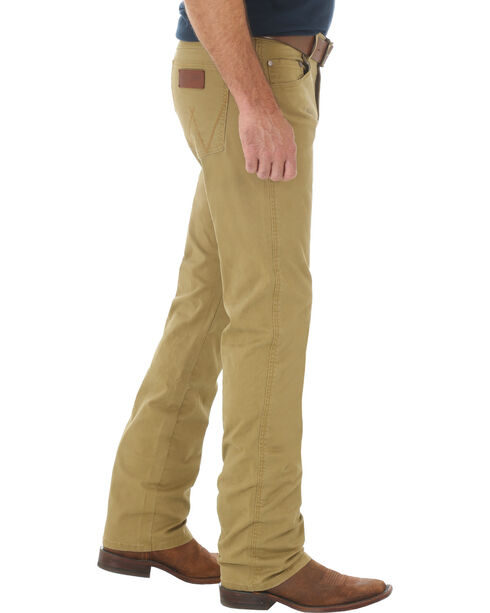 Wrangler Retro Slim Fit Straight Leg Khaki Jeans - Big and Tall, Tan, hi-res