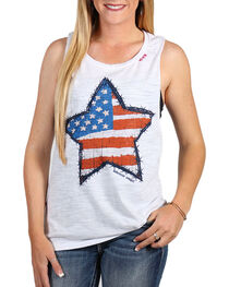 Bohemian Cowgirl Women's Flag Star Tank, , hi-res