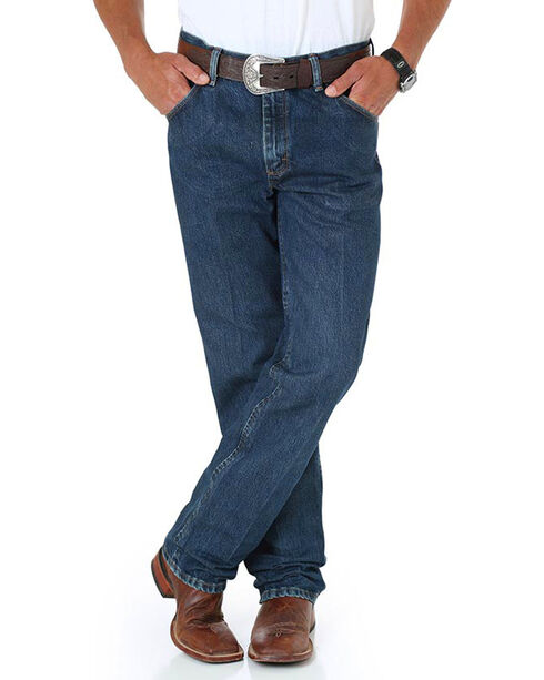 Wrangler Men's Premium Performance Cowboy Cut Regular Fit Jeans , Blue, hi-res