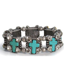 Shyanne® Women's Turquoise Cross Bracelet, , hi-res