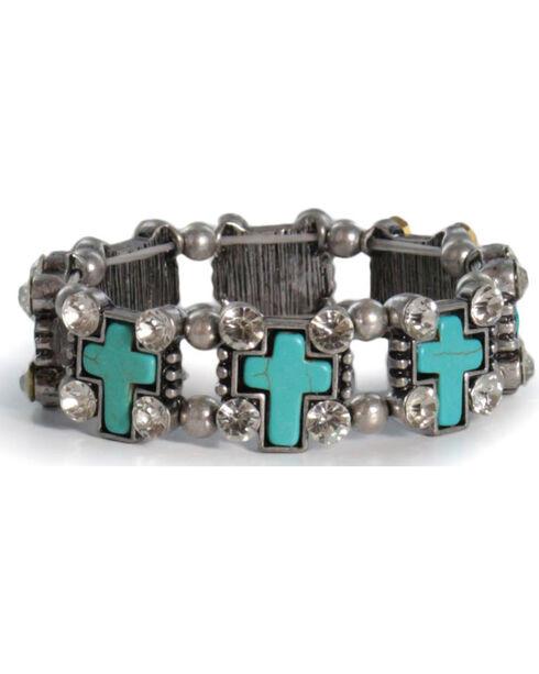 Shyanne® Women's Turquoise Cross Bracelet, Turquoise, hi-res