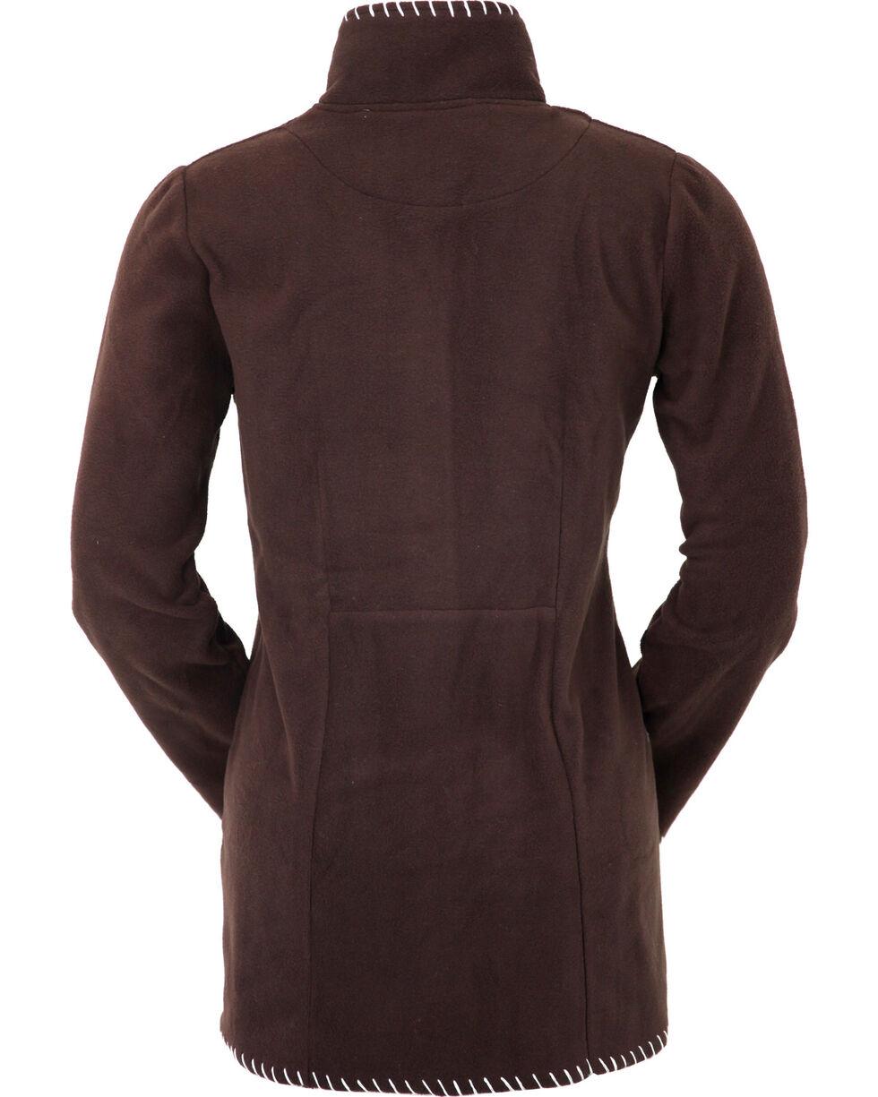 Outback Trading Company Women's Chocolate Aztec Fleece Jacket, , hi-res