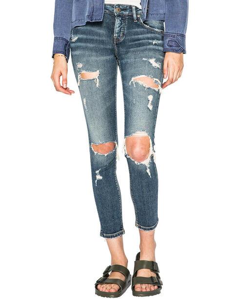 Silver Women's Indigo Kenni Dark Wash Jeans - Skinny , Indigo, hi-res