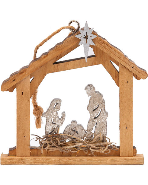 BB Ranch Wooden Nativity Ornament, No Color, hi-res