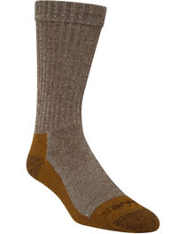 Carhartt Brown Copper Technology Work Crew Socks, , hi-res