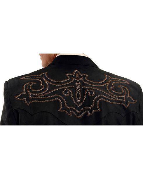 Circle S Men's Embroidered Microsuede Sport Coat, Black, hi-res