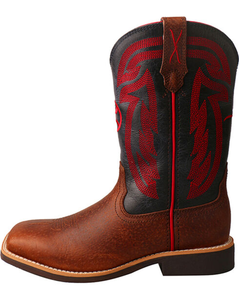 Twisted X HOOey Kids' Logo Western Boots, Brown, hi-res