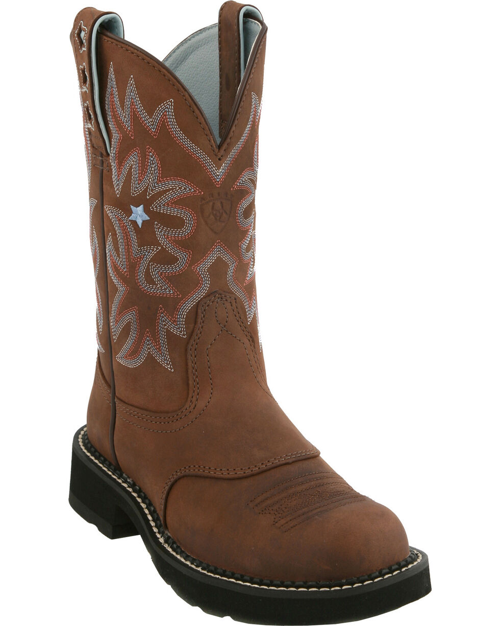 "Ariat Women's ProBaby 10"" Western Boots, Brown, hi-res"