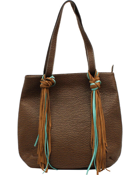 Blazin Roxx Jolie Collection Fringe Tote, Brown, hi-res